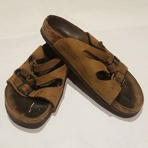 Birkenstock Three Strap Sandals 38 or 7